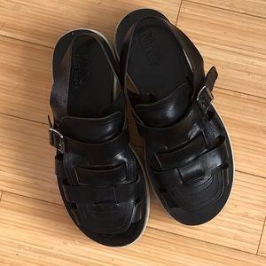 MM6 Margiela Caged Leather Platform Sandals Sz38